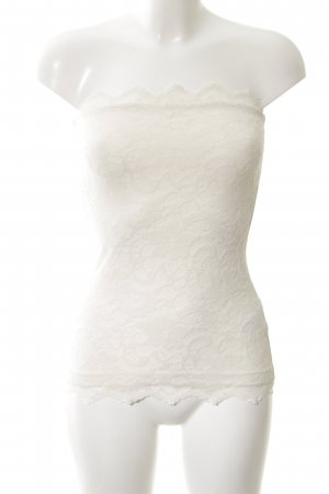 H&M Bandeau top wolwit casual uitstraling