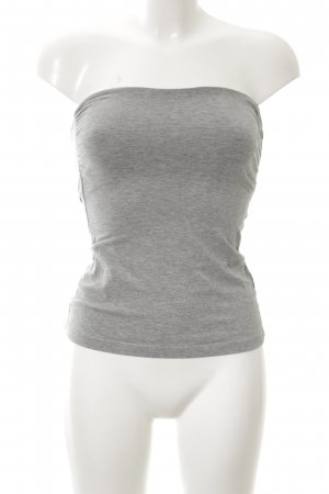 H&M Bandeau Top light grey flecked casual look