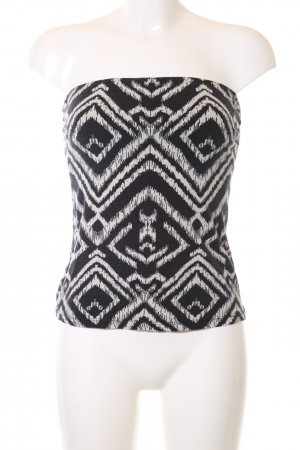 H&M Bandeau top zwart-wit grafisch patroon extravagante stijl