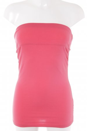 H&M Bandeau top neonrood casual uitstraling