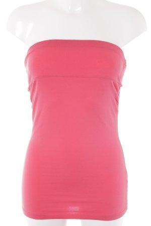 H&M Haut bandeau rouge fluo style décontracté