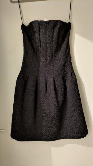 H&M Vestido bustier negro Algodón