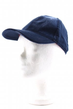 H&M Baseball Cap dark blue velvet appearance