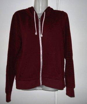 H&M basic Hoodie Cardigan Jacke Gr. S/M (38) bordeaux creme