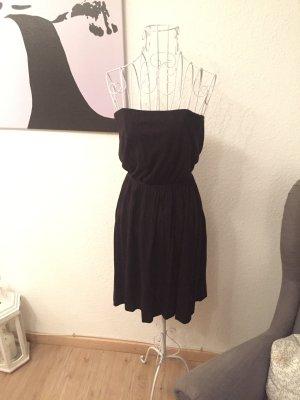 H&m Basic Kleid, Bandeau Kleid, schwarz, s