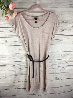 H&M Basic Kleid Beige Kurzarm T-Shirt Größe S