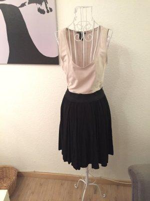 H&m Basic Kleid, nude schwarz, jersy, s