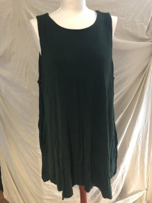 H&M Long Top forest green viscose