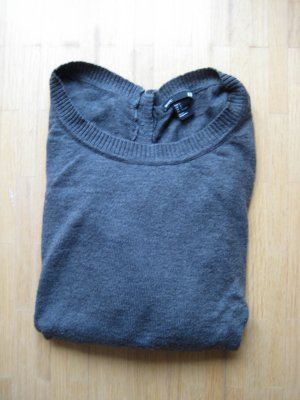 H&M Basic Pullover grau
