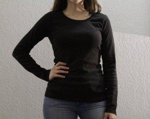 H&M Basic schwarzer Langarmshirt