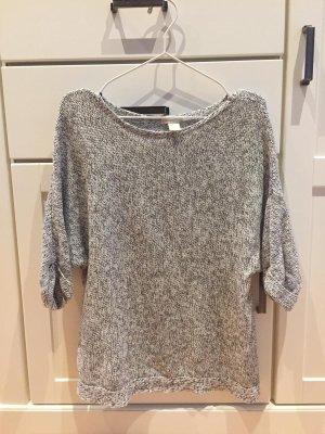 H&M Short Sleeve Sweater light grey