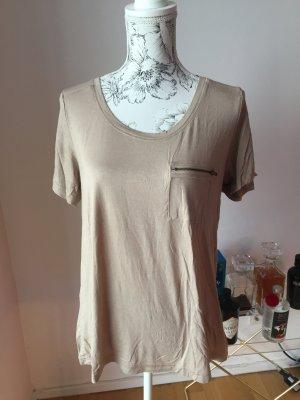 H&M Basic Shirt beige Gr L