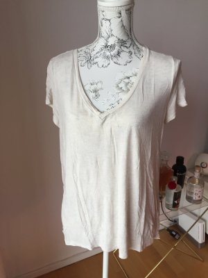 H&M Basic Shirt creme melliert Gr L