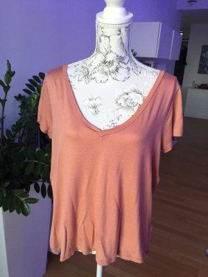 H&M Basic Shirt Gr M Koralle lachsfarben wie neu