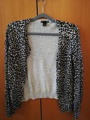H&M Basic Sweatshirtjacke im Leo-Muster Gr. M (fällt aus wie Gr. S)