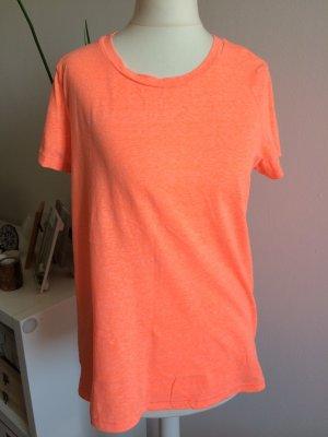 H&M Basic T-Shirt S 36 neu neon Koralle Lachs Orange Sommer Frühling
