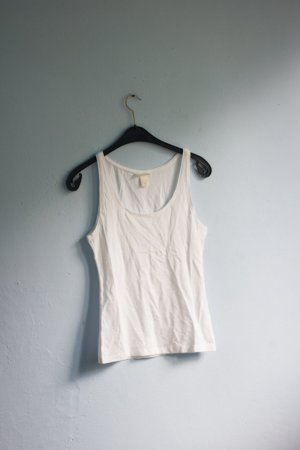 H&M Basic Tank Top weiß M 38
