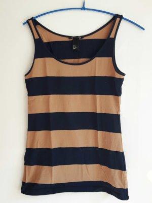 H&M Basic Top, braun blau