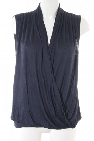 H&M Basic Top dunkelblau Casual-Look
