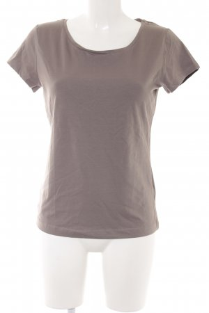 H&M Basic Top graubraun Casual-Look