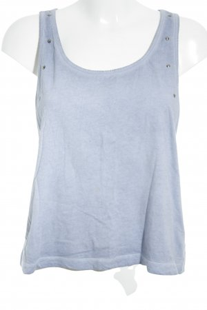 H&M Basic Top kornblumenblau Street-Fashion-Look