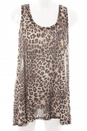 H&M Basic Top Leoprint Animalprint Casual-Look S