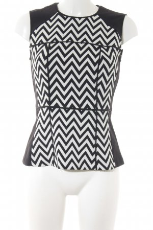 H&M Basic Top black-white abstract pattern casual look