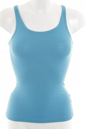 H&M Top básico turquesa-azul look casual