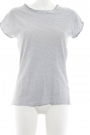 H&M Basic Top white-black striped pattern casual look