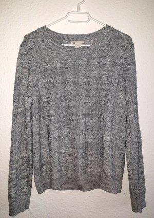 H&M Pull torsadé gris clair-gris