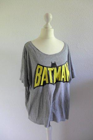 H&M Batman Marvel Oversize Shirt Blogger grau gelb schwarz Gr. S 36/38