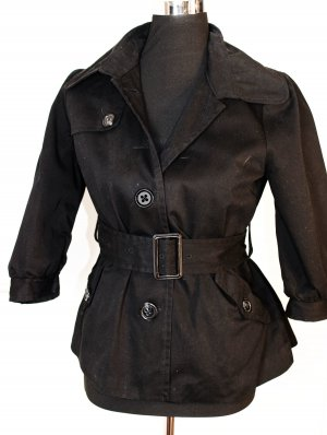H&M Baumwoll Jacke 3/4 Ärmel Sixties-Style , Gr. 38 wie 36/38 oder S, schwarz