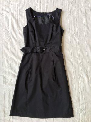 H&M Baumwoll-Sommerkleid in elegantem Schwarz, Medium/ Gr. 38