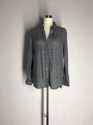 H&M Flanellen hemd zwart-wit Katoen