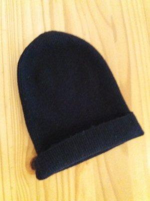 H&M Beanie black mixture fibre