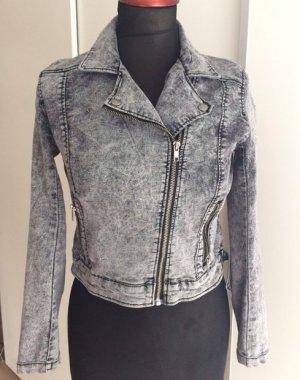 H&M Biker Jeans Jacke kurze Form 36 moonwashed