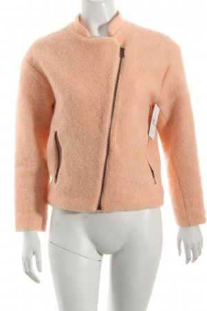 H&M Bikerjacke apricot Street-Fashion-Look