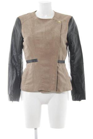 H&M Bikerjacke hellbraun-schwarz Street-Fashion-Look