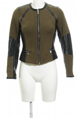 H&M Bikerjacke khaki-schwarz Steppmuster Biker-Look