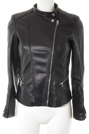 H&M Bikerjacke schwarz Biker-Look