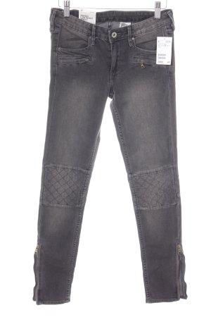 H&M Jeans de moto gris-gris foncé Look de motard