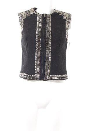 H&M Biker vest zwart-zilver Biker-look