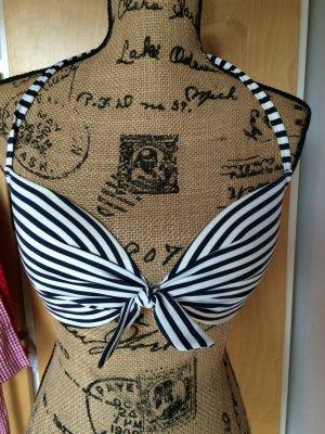 H&M Bikini blau weiß gestreifte 75C 36