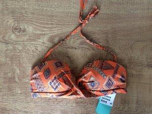 H&M Bikini Oberteil BH Orange Hippie 38 M Neu