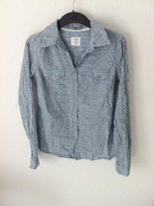 H&M blau kariertes Hemd
