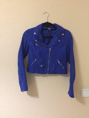 H&M blaue Bikerjacke