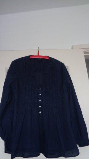 H&M Cols de blouses bleu coton