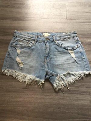 H&M blaue Jeans Hüftshorts 36