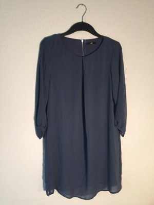H&M blaues Chiffonkleid 36