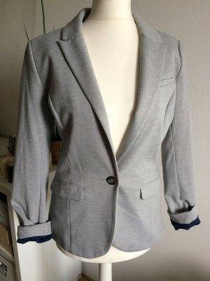 H&M Blazer boyfriend gris-gris clair